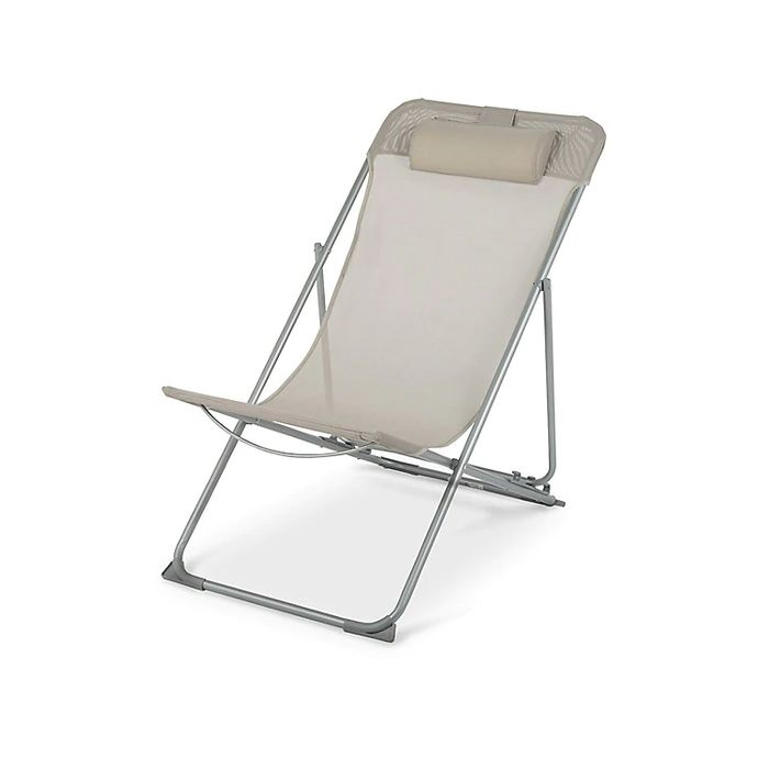 Chilean Grey Metal Beach Chair 1 Hour Click and Collect