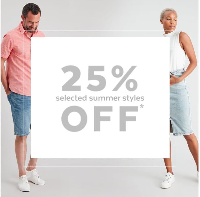 TU Clothing - 25% Off Over 200 Summer Styles + Free C&C