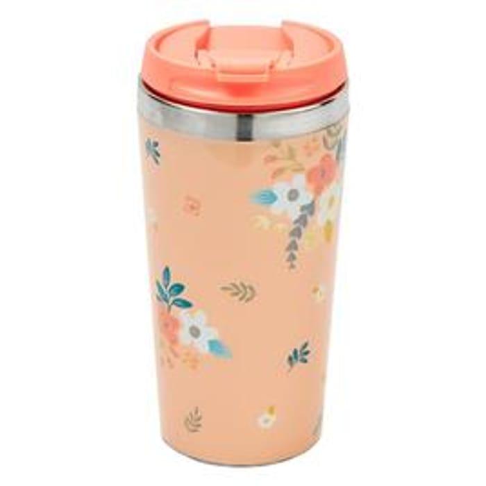 Tri-Coastal Floral Travel Mug