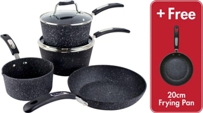 50% off - Scoville Neverstick 5 Piece Cookware Set Free C&C
