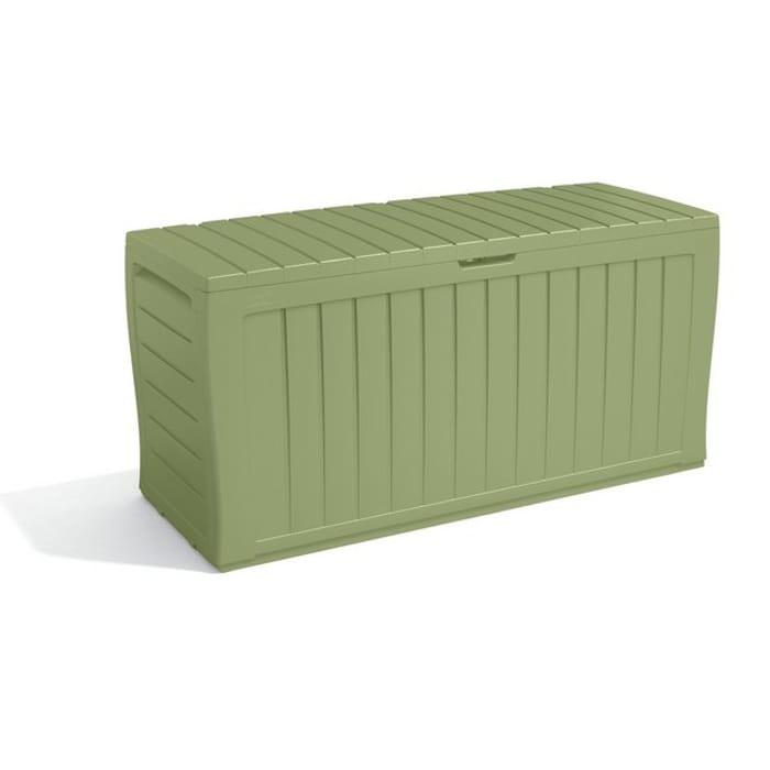 Best Price! Keter Marvel plus Garden Storage Box 270L - Sage Lockable