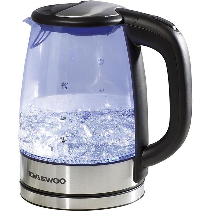 Daewoo Illuminated 1.7L Durable Glass & Stainless Steel Kettle 2200W