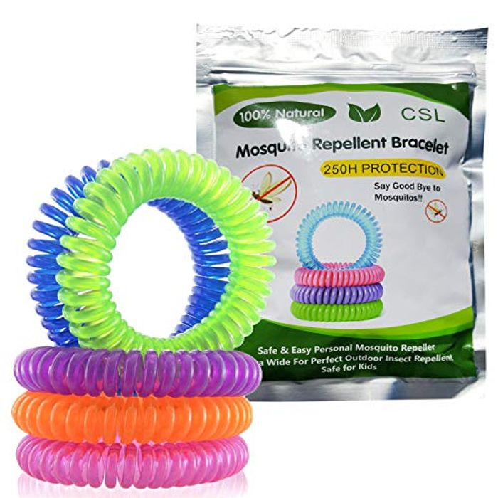 CSL Mosquito Repellent Bracelets 10 Pack - All Natural, Deet Free and Waterproof