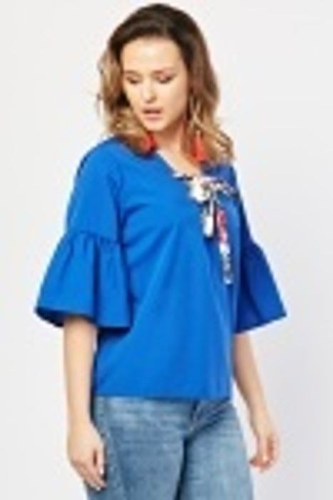 Tie up Ribbon Front Top