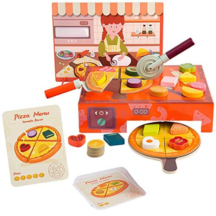 TOP BRIGHT Pizza Toy Set
