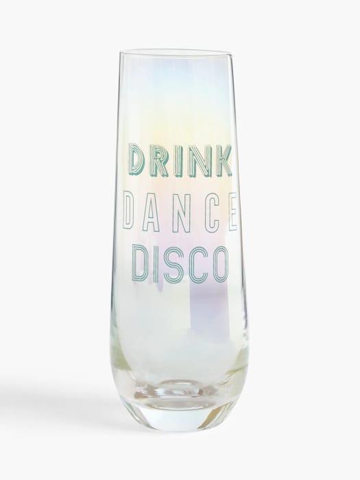 John Lewis & Partners Disco Flute Glasses, 600ml, Set of 2