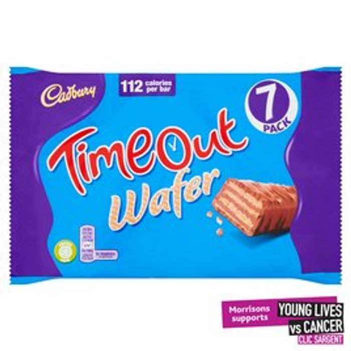 Cadbury Timeout Wafer Biscuits 7 Pack 7 X 21.2g