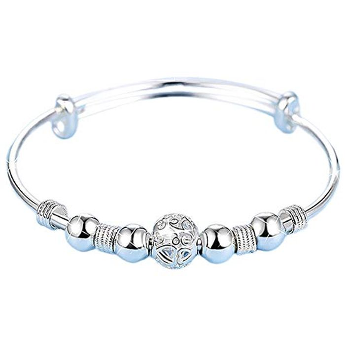 Solid Silver Buckle Bracelet 925
