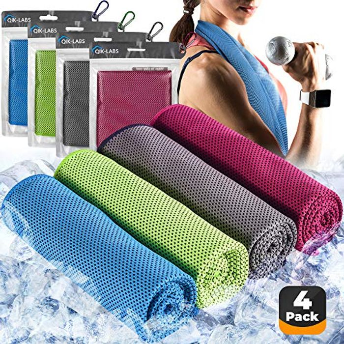 Save £5- Pack of 4 Cooling Towels for £4.99 Only