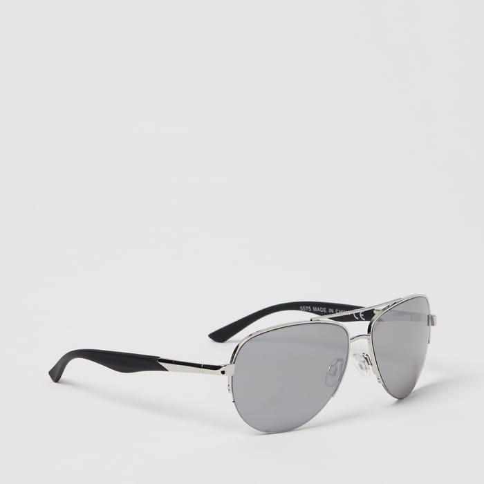 Red Herring - Silver Metal Aviator Sunglasses