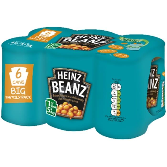 6X 415G Heinz Beanz Family Pack