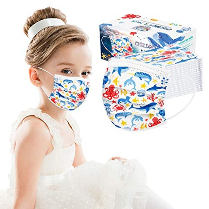 70% off Cute 3-Layer Face Mask Covers for Kids Air Filter