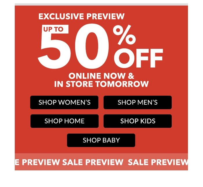 George Sale Online And In Store!