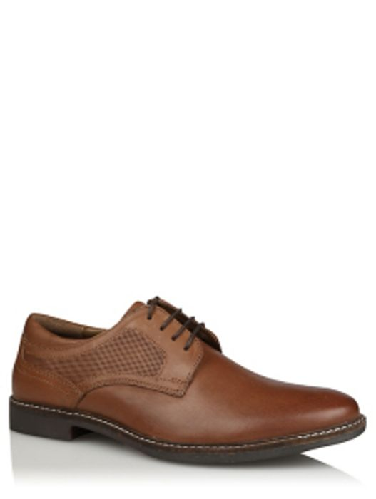 Tan Leather Lace up Formal Shoes