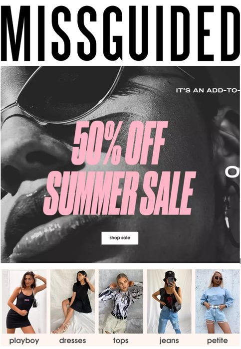 MISSGUIDED SUMMER SALE - from £1