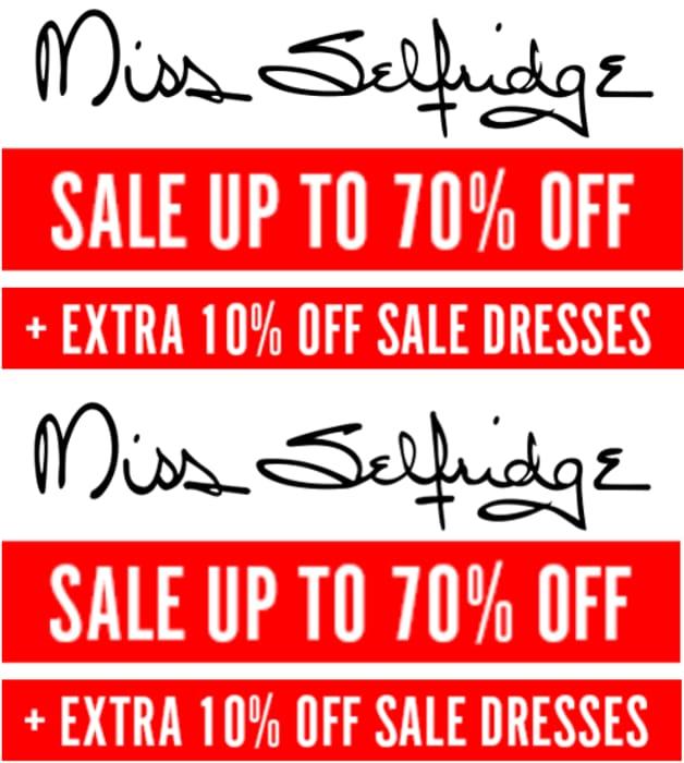 Miss Selfridge Sale