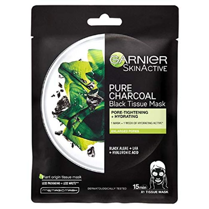 Garnier Charcoal and Algae Purifying and Hydrating Face Sheet Mask