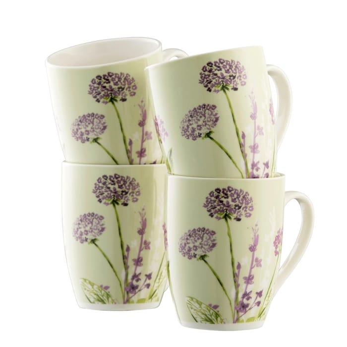 Aynsley China- Floral Spree 4 Mugs Set
