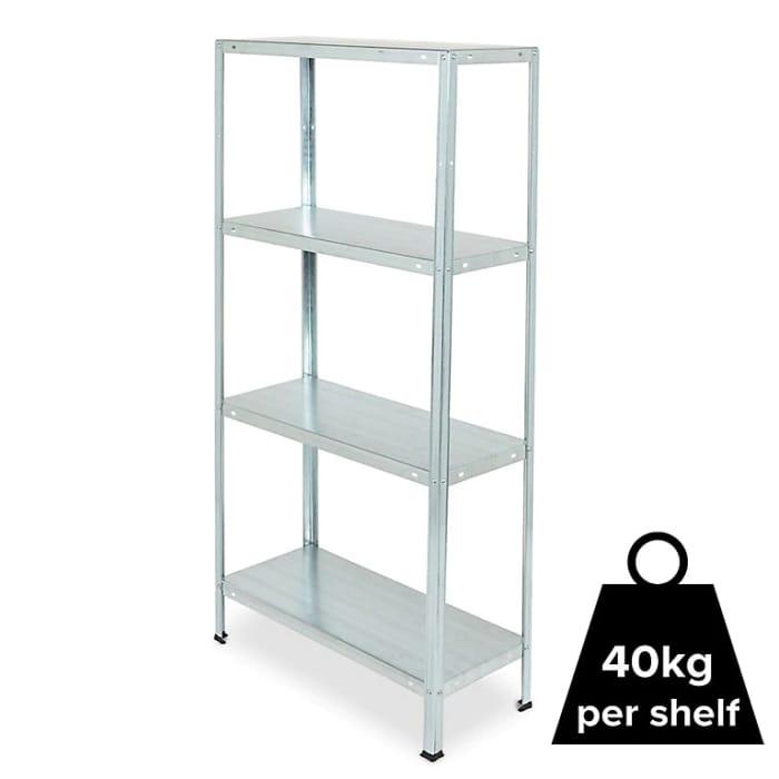 4 Shelf Steel Shelving Unit (H)1400mm (W)700mm