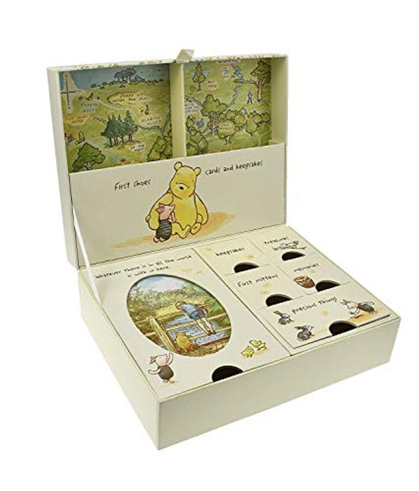 Disney Classic Pooh Keepsakes Baby Box with Compartments NEW -FREE DELIVERY