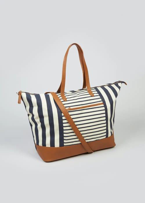 Canvas Stripe Weekend Bag save £11