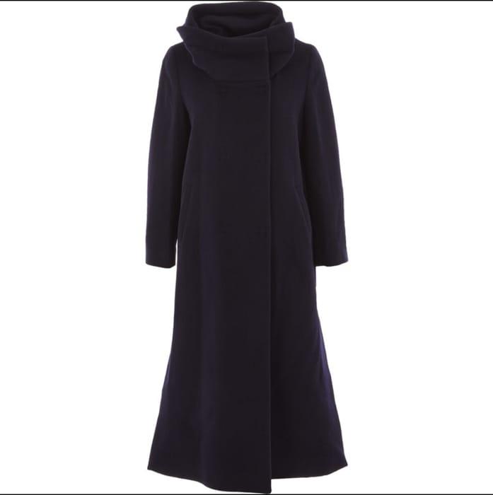 ROBERTO CAVALLI Navy Wool Blend Coat - Only £179.99!