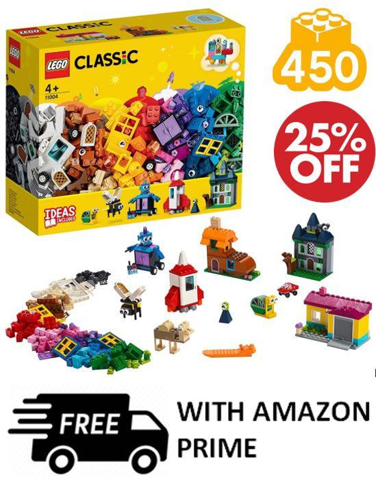 LEGO CLASSIC: Windows of Creativity (11004) 450 Pieces at Amazon