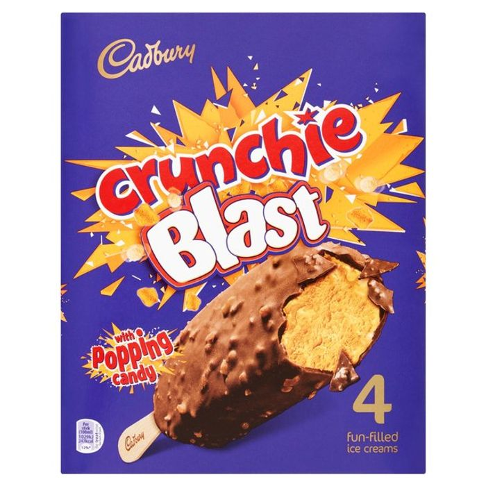 Cadbury Dairy Milk/ Crunchie / Boost Ice Creams 4pk