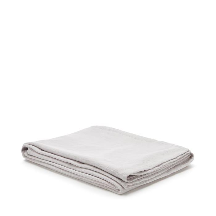 Debenhams - Silver Cotton Matelass Throw