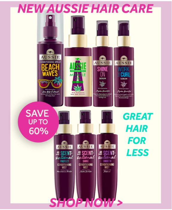 Save Up To 60% On Aussie Hair Care