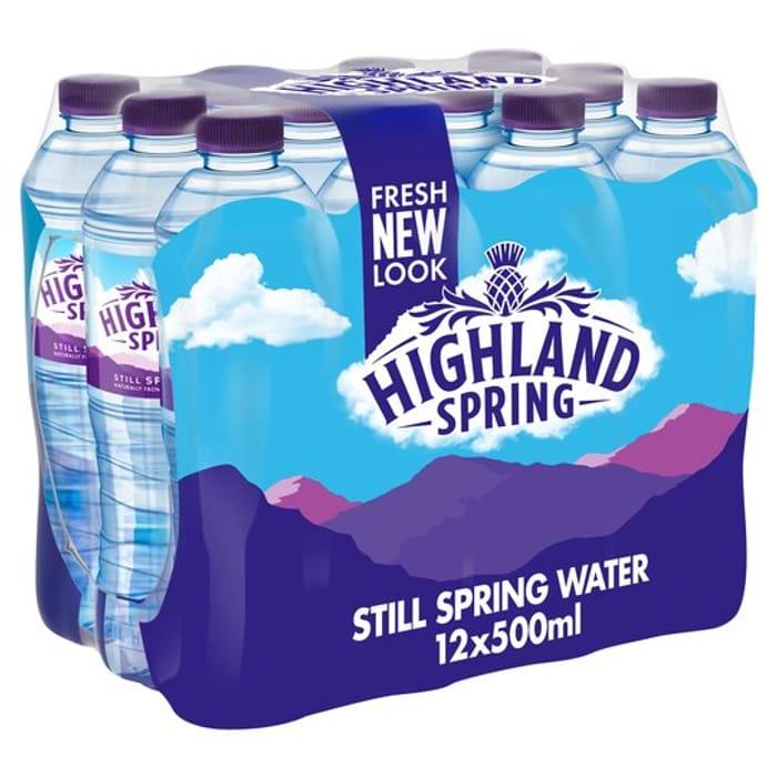 Highland Spring Still Spring Water Bottles Family Pack 12x500ml