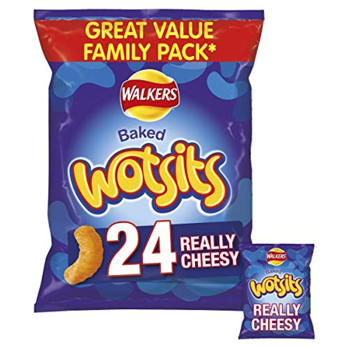 Walkers Snack Foods Wotsits Really Cheesy Snacks, 24x16.5g