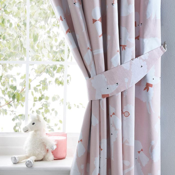 Bluezoo - Pink 'Poodle' Curtains