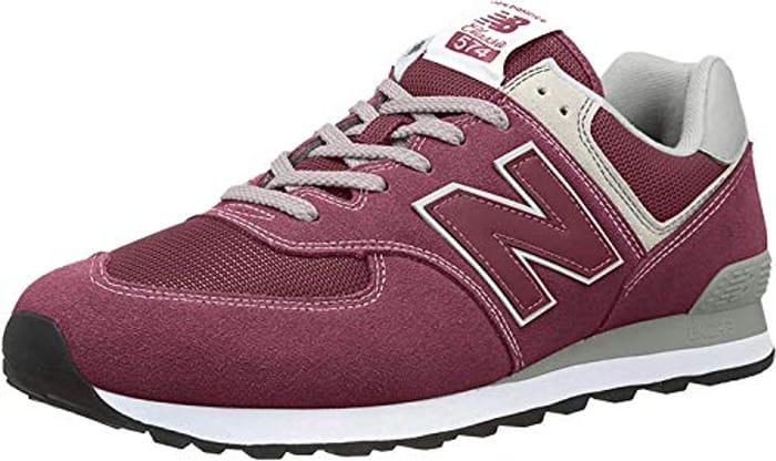 New Balance Men's 574 Core Sneaker (Red/Burgundy)