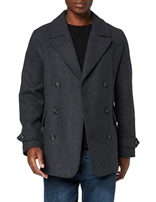 Amazon Brand - Find. Men's Wool Mix Pea Coat