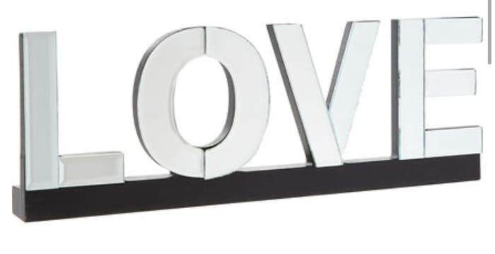 Silver Tone Love Plaque For £10