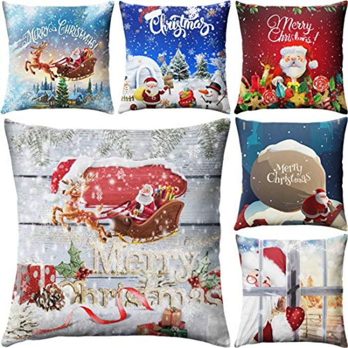 Chirstmas Cushion Covers Decoration 6 Pack