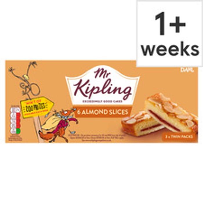 Mr Kipling Almond Slices 6 Pack