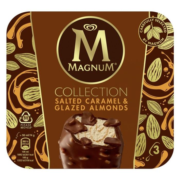 Magnum Collection Salted Caramel & Glazed Almond Ice Cream 3 Pack