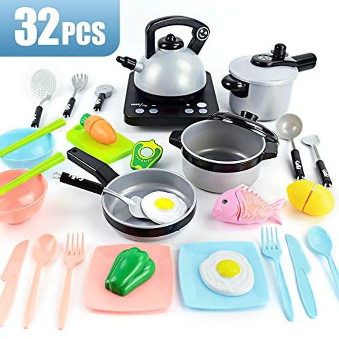 32 Pcs Childrens Kitchen Set