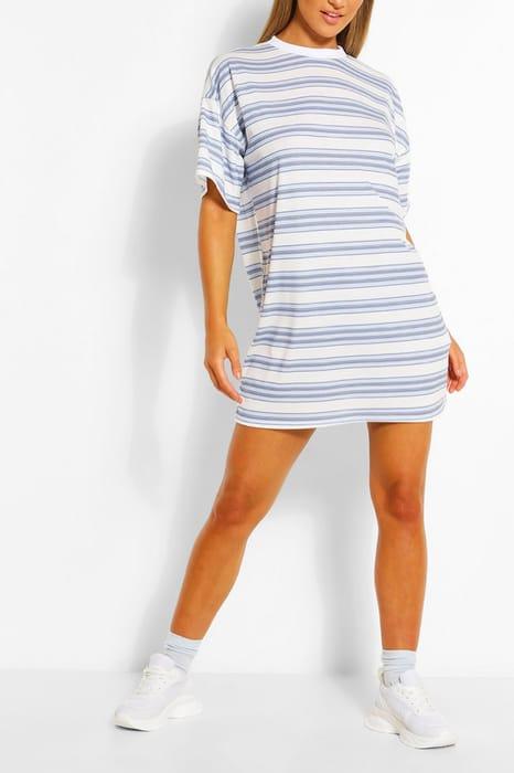 Stripe Oversized T-Shirt Dress, Only £7.00!