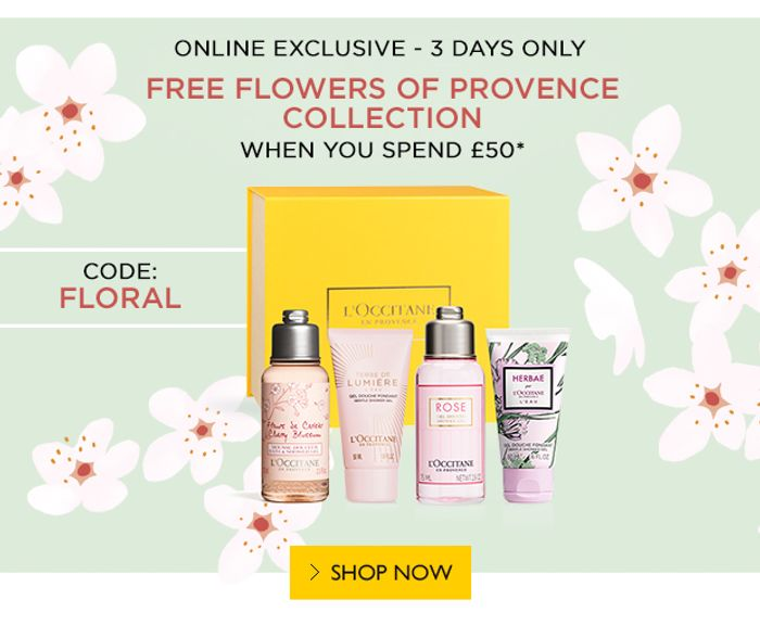 3 Days Only: Flowers of Provence Collection for Free When You Spend £50*