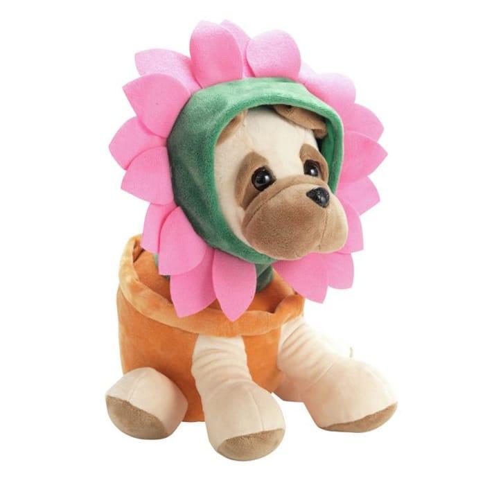 Flower Pug Soft Toy