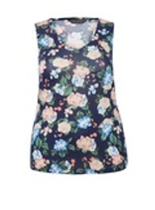 Cheap DP Curve Navy Floral Print Vest Only £7