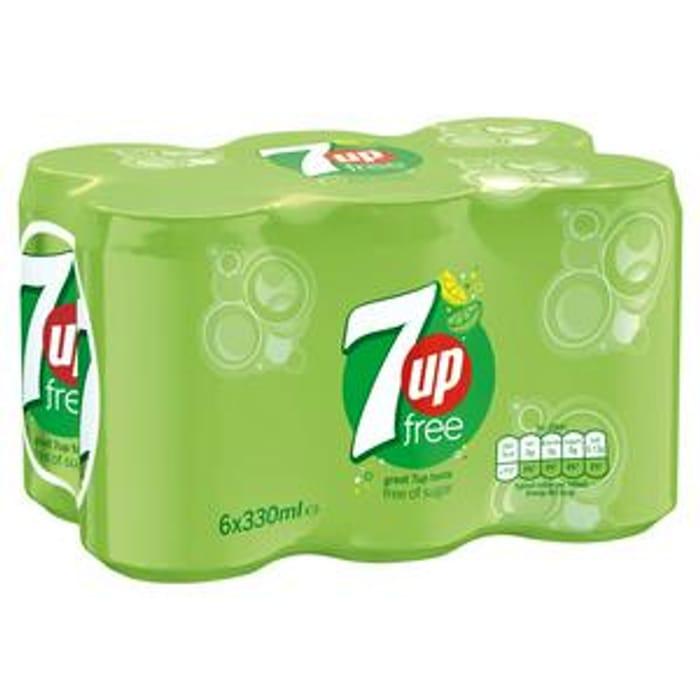 7UP Free Sparkling Lemon & Lime Drink 6x330ml