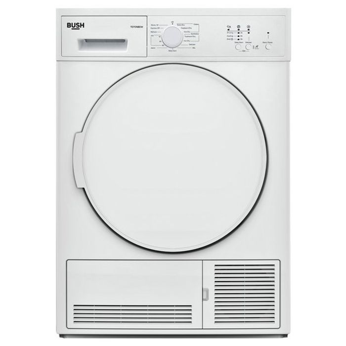 *** Updated ***Bush TD7CNBCW 7KG Condenser Tumble Dryer - White