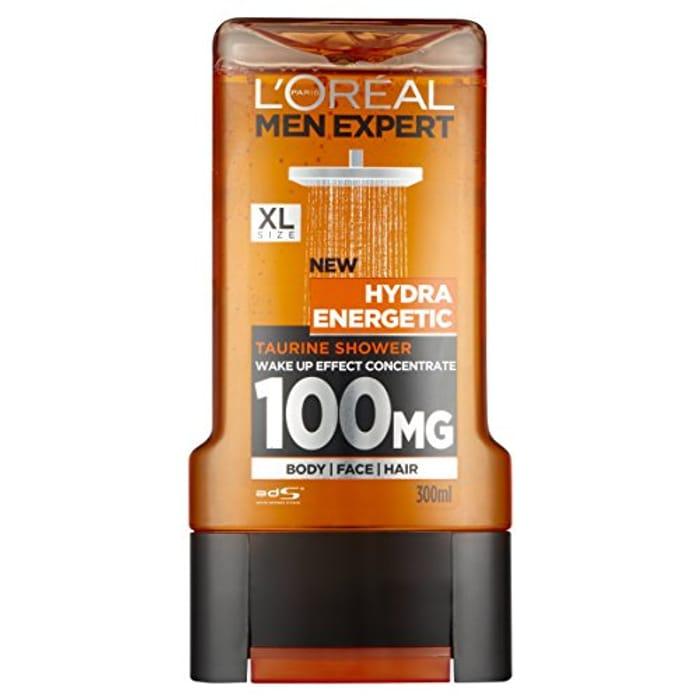 L'Oral Men Expert Hydra Energetic Shower Gel, 300ml