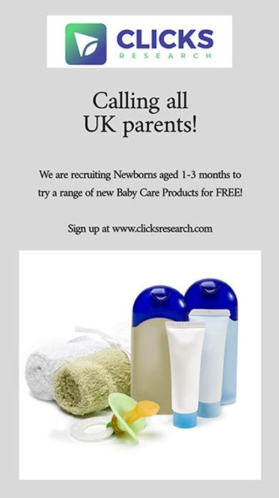 FREE BABY CARE PRODUCTS - Clicks Research