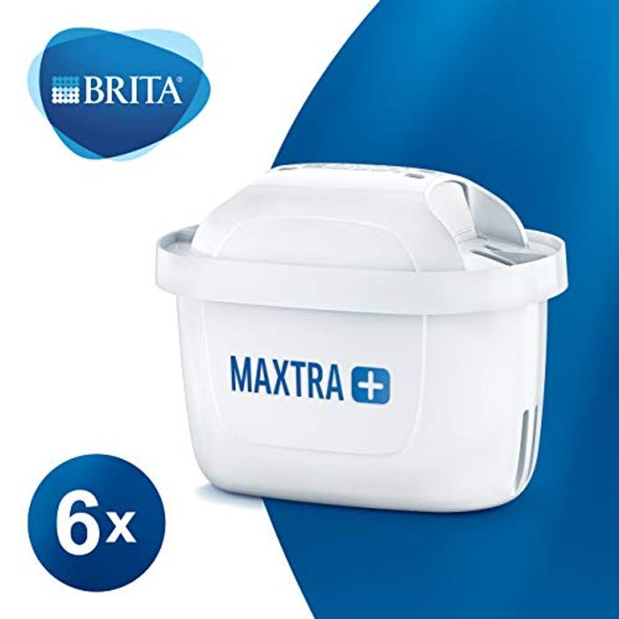 BRITA MAXTRA+ Water Filter Cartridges, Compatible with BRITA Jugs, Pack of 6