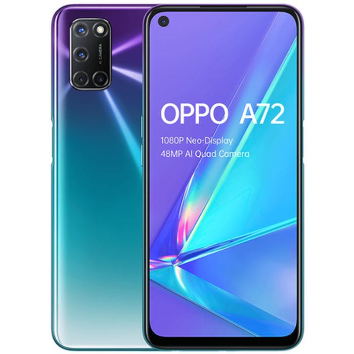 "OPPO A72 Aurora Purple 6.5"" 128GB 4G Dual SIM Unlocked Only £199"